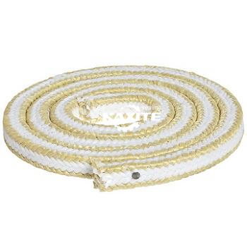 아라미드 모서리가있는 흰색 PTFE 패킹